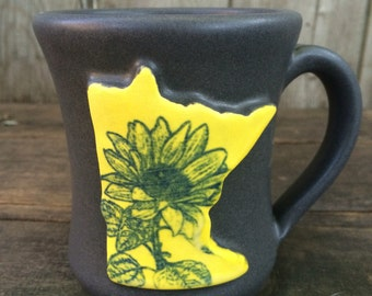 MN Mug, yellow with sunflower