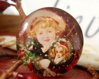 Christmas Cabochon  25 mm