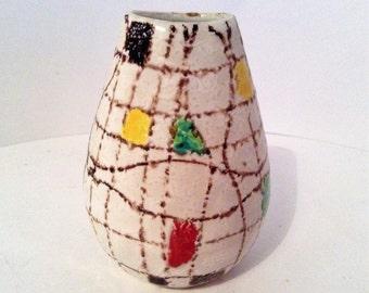 Mid century modern ceramic vase 9 cm