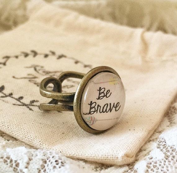 Wedding Ring Bible Quotes: Adjustable Bronze Scripture Ring