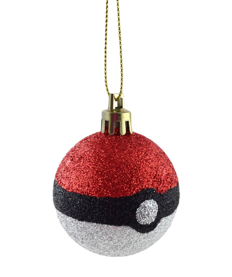 Christmas Tree With Baubles: 3x Pokemon Go Pokeball Christmas Tree Decorations Bauble