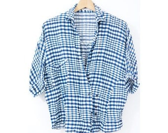 Vintage plaid shirt (0010) Vintage shirt Plaid shirt Plaid tops Shirt tops