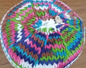 Knitted Doughnut pin cushion