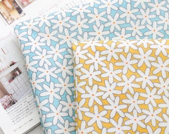 Laminated Cotton Fabric Jasmin in 2 Colors By The Yard