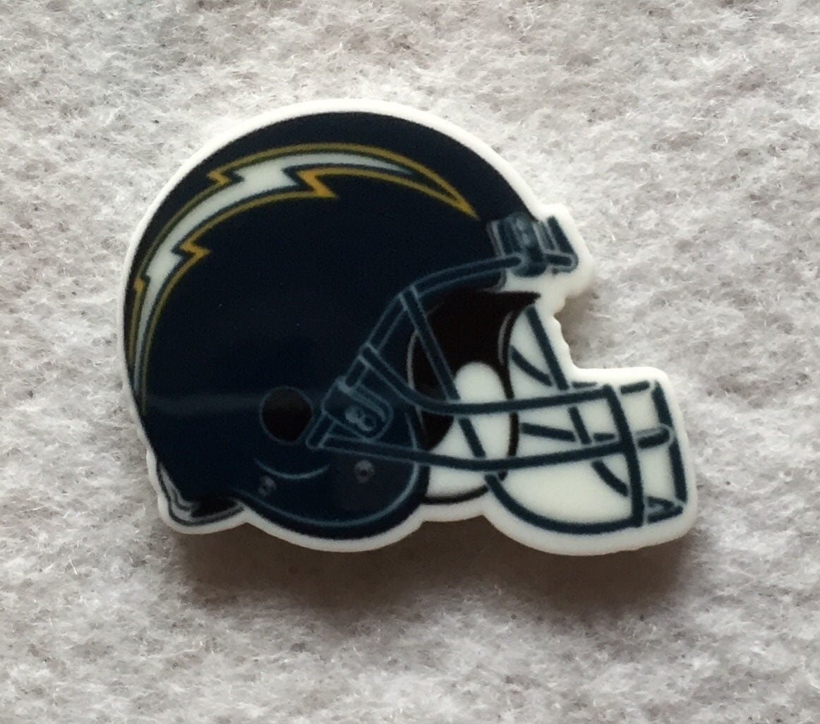 San Diego Chargers Car Accessories: 1.25 Inch San Diego LA Chargers Flat Back Football Helmet