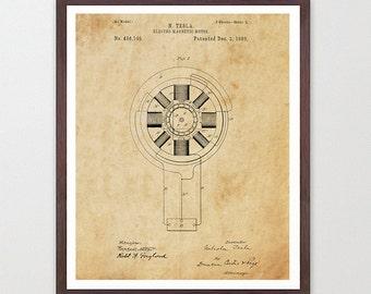 Tesla Poster - Inventions of Nicola Tesla - Tesla Wall Art - Tesla Coil - Tesla Print - Tesla Patent - Nicola Tesla - Tesla Patent