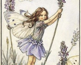 The Lavender Fairy - Counted cross stitch pattern in PDF format