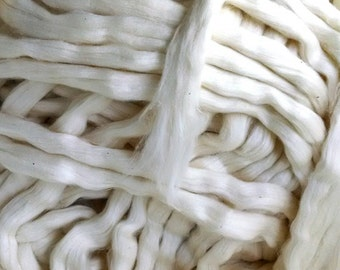 Cotton Roving, Organic Upland  - 8 ounces
