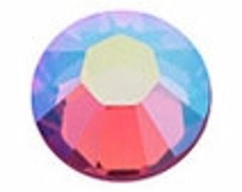9ss ROSE AB Swarovski crystal flatback rhinestones. Aurora Borealis. Item 2058. ss9.