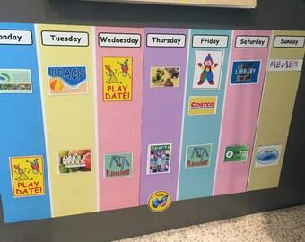 Magnetic Weekly Kids Calendar