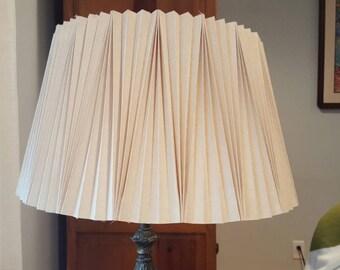 Vintage Mid Century Pleated Lampshade Linen
