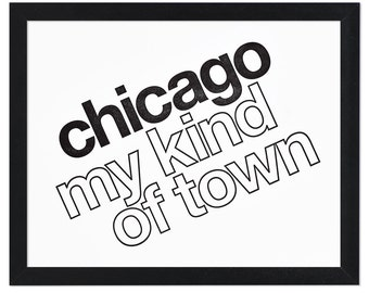 """Chicago My Kind of Town Letterpress Print, 8"""" x 10"""""""