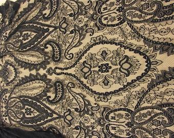 Black cicada Lace Fabric for dress,IVORY White Eyelash wedding Lace Fabric by the Yard or Wholesale-1pattern-120cm with eyelash