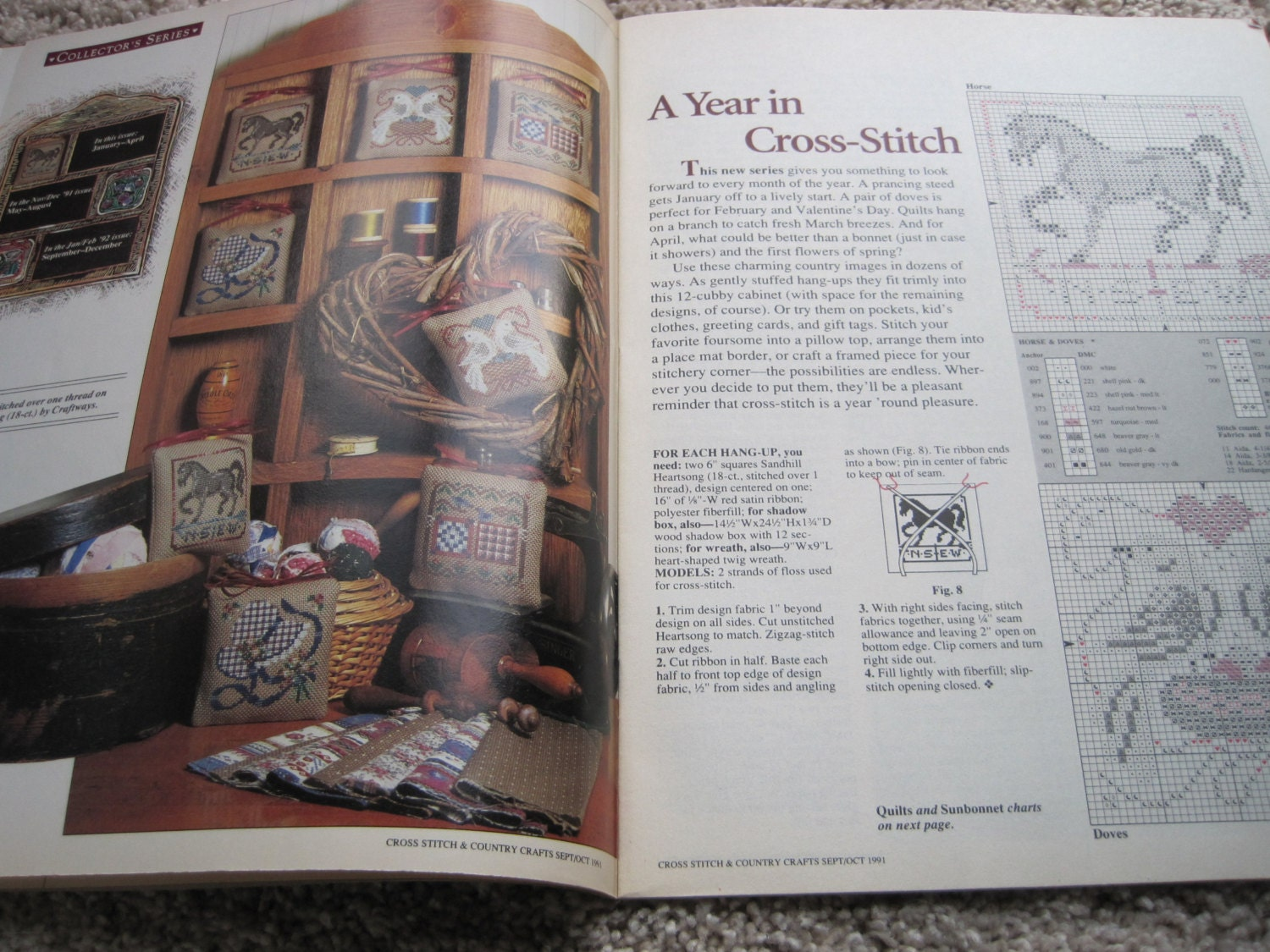 Cross stitch and country crafts magazine back issues - Cross Stitch Country Crafts Magazine Sept Oct 1991 Sold By Kendallscrochet 5 00