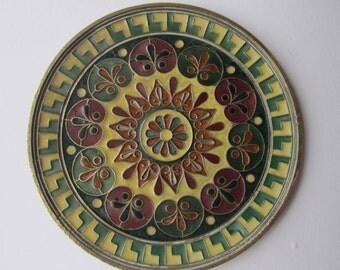 Vintage middle eastern cloisonne enamel plaque