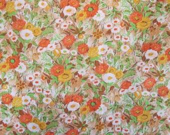 original 1960s length of chintz/floral cotton