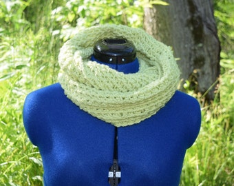 Scarf - infinity, lime/chartreuse