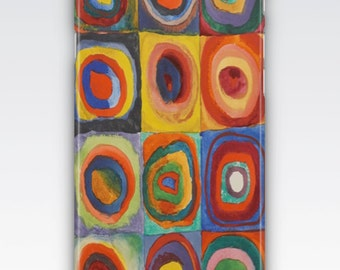 Case for iPhone 8, iPhone 6,  iPhone 6 Plus, iPhone 5s,  iPhone SE,  iPhone 5c,  iPhone 7  - Squares with Concentric Circles by Kandinsky
