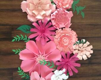 Paper Flower Backdrop, Giant Paper Flowers, Paper flower wall