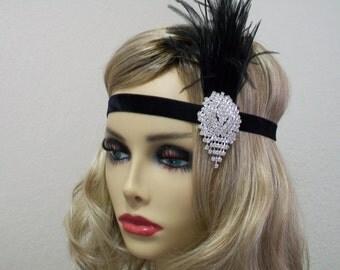 Accessoire de cheveux des ann es 1920 etsy - Bandeau annee 20 ...
