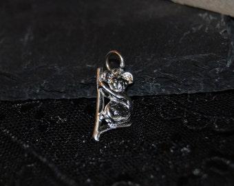 Koala Bear Pendant or Charm in Vintage Silver #BKC-CHRM67