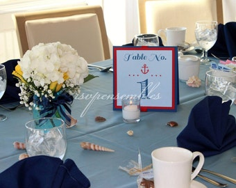 Nautical Themed Table Number Centerpiece