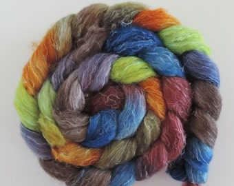 BFLoatmeal,Linen,Wild Island, top, fiber for spinning and felting,Wilde Insel roving, 4,2oz