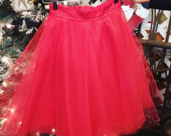 Red tulle skirt with lace band, Bridesmaids Tulle skirt, Christmas Tulle Skirt, Christmas Skirt, Black Tulle Skirt, Tulle skirt