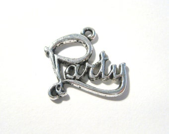 10pcs Antique Silver Party Charms Pendants 19mm