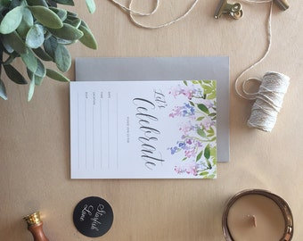 Fill-in Invitation, Celebrate - Wisteria, Pack 10 including envelopes