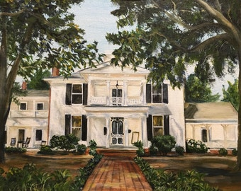 Custom painting from photo of Wedding Venue or home portrait , Unique Anniversary, House warming, First Home, birthday, or Holiday gift
