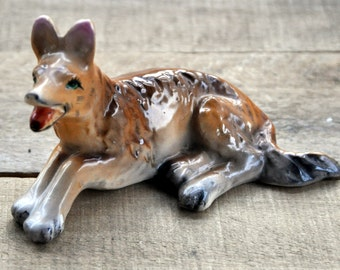 Vintage Ceramic German Shepard Dog Figurine