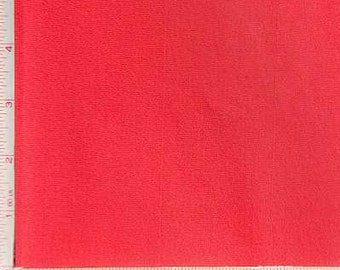 Red Jersey Fabric 4 Way Stretch Combed Ring Spun, CPRS Cotton Spandex Lycra 10 Oz 58-60""