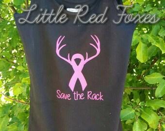 save the rack singlet - breast cancer awarness shirt - pink ribbon shirt