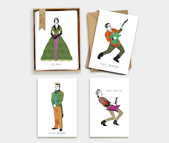Greeting Card Set. Set of 8. Thank you. Congratulations. Happy Birthday.