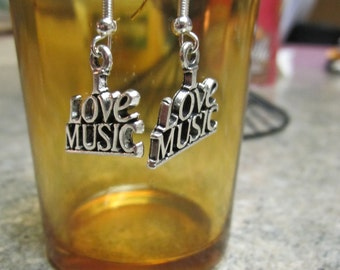 I Love Music Earrings - Free Shipping!