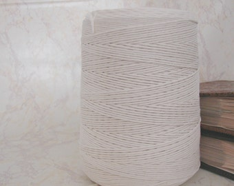 4 mm Cotton thread. 1455 ft Cotton yarn. Cotton cord. Cotton twine. Macrame supplies. Macrame cord. Macrame twine. Modern macrame. Macrame