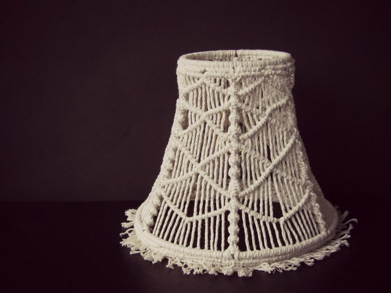 macrame lamp shade geometric lampshade macrame pattern 5 inch lamp shade rustic lamp shade bedroom lampshade clip on