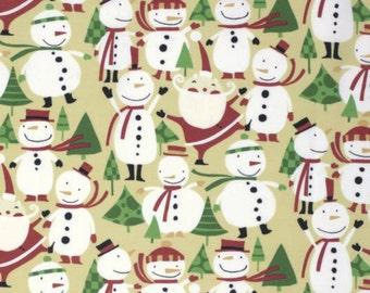 100% Cotton Fat Quarter Freespirit Winter Wonderland Snowmen & Santa Christmas