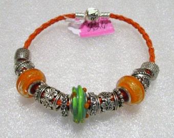 226 - Orange Bracelet