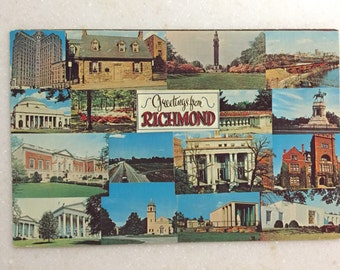 Vintage VA Postcard Greetings from Richmond Va 1971