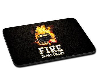 """MOUSEPAD printed with """"Fire Department"""""""