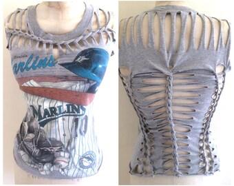 Miami Marlins Weave Top