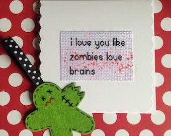 Zombie Gift and Card Set, Zombie Gift, Zombie Gift Set, Zombie Card, Gift Set, Love Gift Set, Horror Gift Set