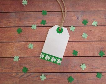Gift tags, tags and twine, 4 leaf clover gift tags, St Patty's day party, 4 leaf clover tags, St Patrick's Day , St Patrick's day gift tags