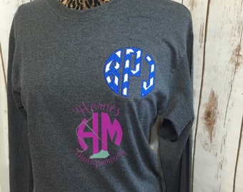 Circle Applique Monogrammed Tshirt