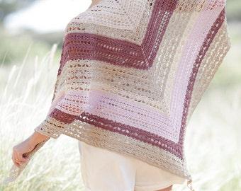Hand made shawl, Summer shawl, spring shawl, crochet shawl, 100% hand made, summer wrap, crochet wrap.