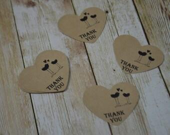 Wedding Favor,50 Wedding Thank you Tags