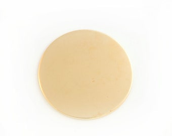 Ten 1 inch NuGold Discs, 22 Gauge Stamping Blanks, Tumbled for Hand Stamping