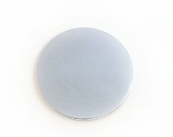Ten 1 1/8  inch Aluminum Discs, 14 Gauge Stamping Blanks, Tumbled for Hand Stamping